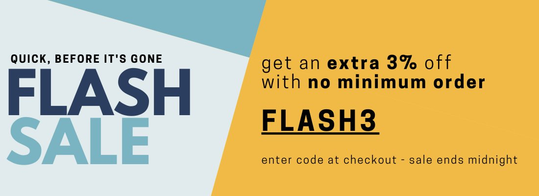 SALE - FLASH SALE 3%