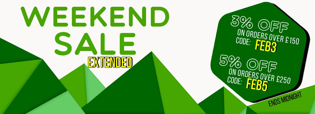 Weekend Sale 3% & 5%