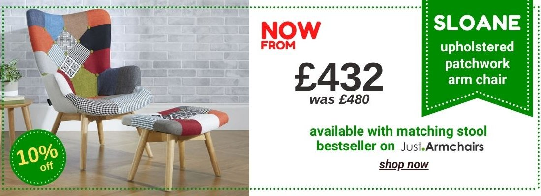 HOMEPAGE - Sloane Patchwork Upholstered Chair - 15% Off