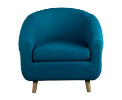Rita Teal Fabric Tub Chair