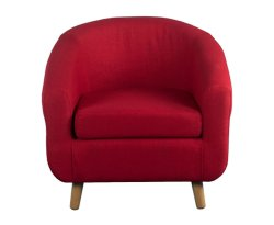 Rita Red Fabric Tub Chair
