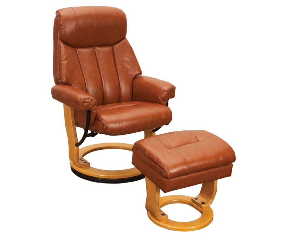 justarmchairs.co.uk Radford Tan Bonded Leather Swivel Chair and Foot Stool tan chair and stool