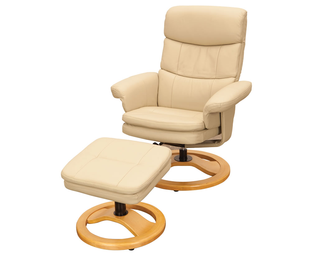 Slade taupe leather swivel recliner chair and foot stool uk delivery - Swivel feet for chairs ...