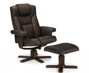 Malmo Faux Leather Recliner Chair with Footstool
