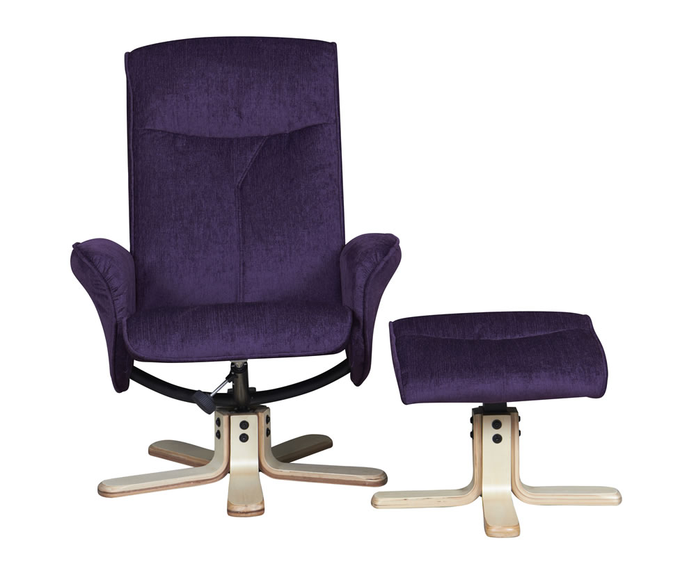 Capaldi mulberry fabric swivel chair and foot stool - Swivel feet for chairs ...