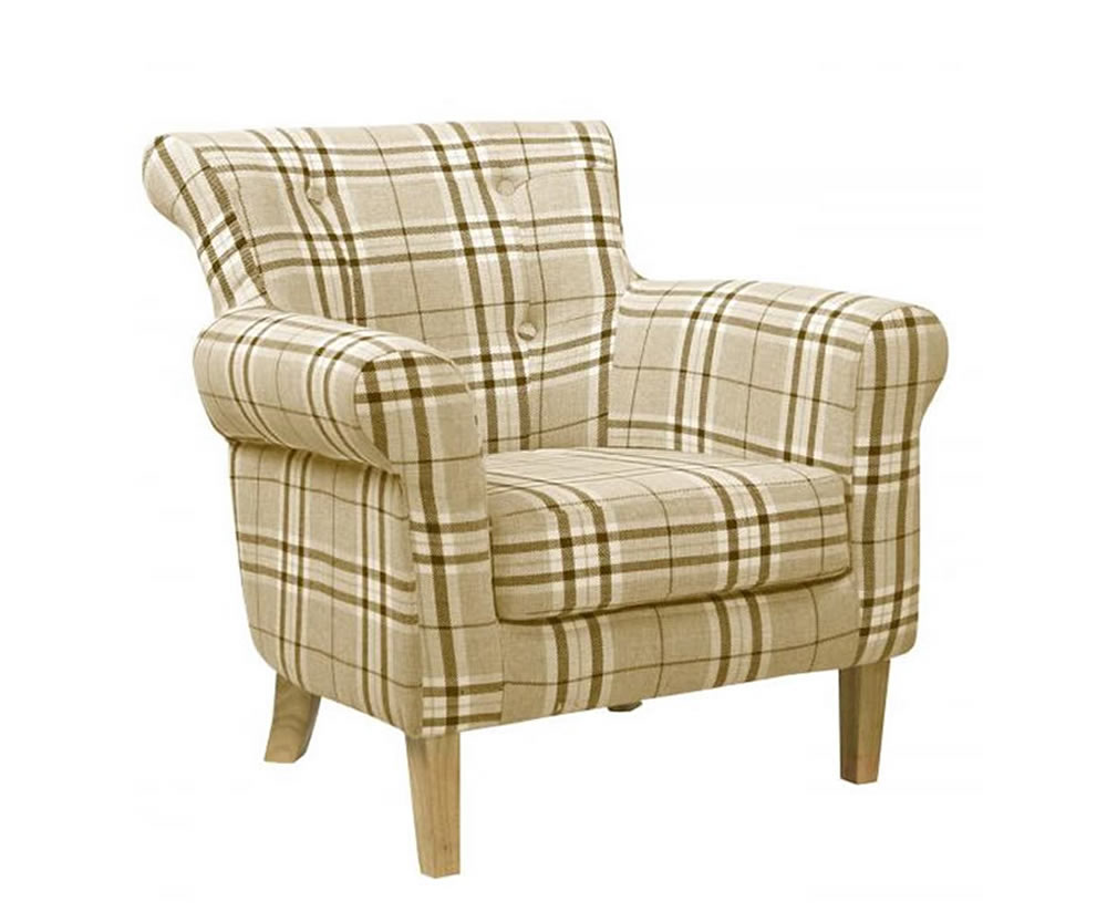 Steeler Check Upholstered Occasional Chair Just Armchairs