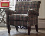 Warrenpoint Moss Tartan Armchair