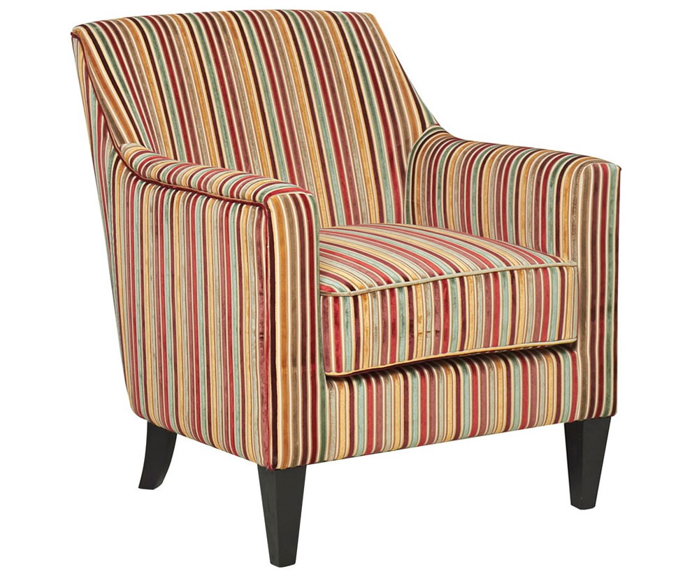 upholstered striped chairs
