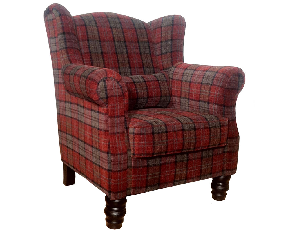 William tartan fireside armchair uk delivery for Furniture armchairs