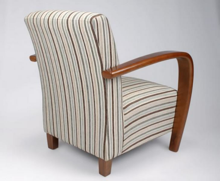 Marvelous Camber Duck Egg Blue Striped Fabric Arm Chair Home Interior And Landscaping Dextoversignezvosmurscom