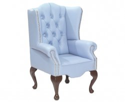 Amerigo Baby Blue Faux Leather Childrens Chair