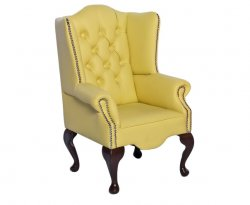 Amerigo Lemon Faux Leather Childrens Chair
