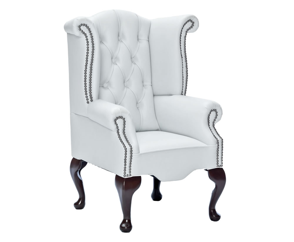 Giovani White Faux Leather Childrens Chair - UK delivery