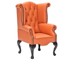 Giovani Orange Faux Leather Childrens Chair