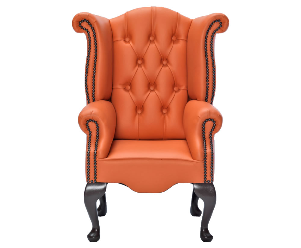 Giovani orange faux leather childrens chair uk delivery for Orange kids chair