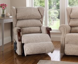 Donna Award Dual Motor Upholstered Rise and Recline Chair