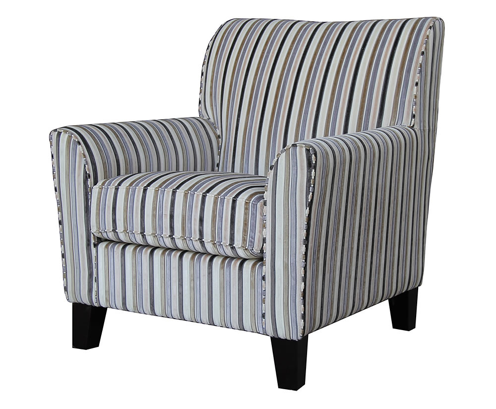 Brookins velvet stripe arm chair uk delivery for Armchair furniture