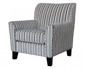 Brookins Velvet Stripe Arm Chair