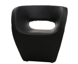Huxley Black Faux Leather Chair