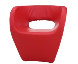 Huxley Red Faux Leather Chair