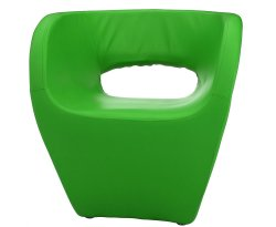 Huxley Apple Green Faux Leather Chair