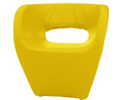 Huxley Yellow Faux Leather Chair