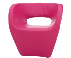 Huxley Hot Pink Faux Leather Chair