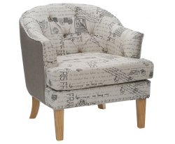 Shetland Upholstered Text Tub Chair