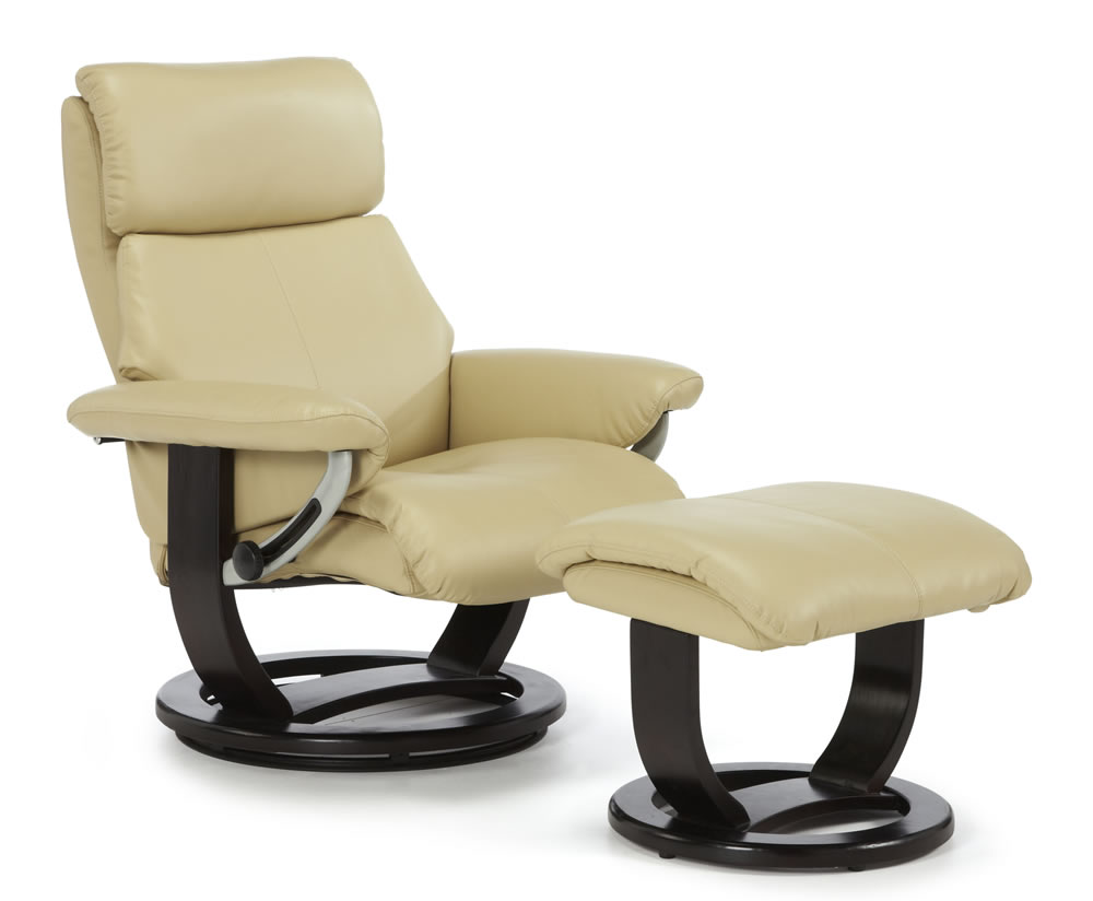 ivalo cream bonded leather recliner chair recliner chair was 575