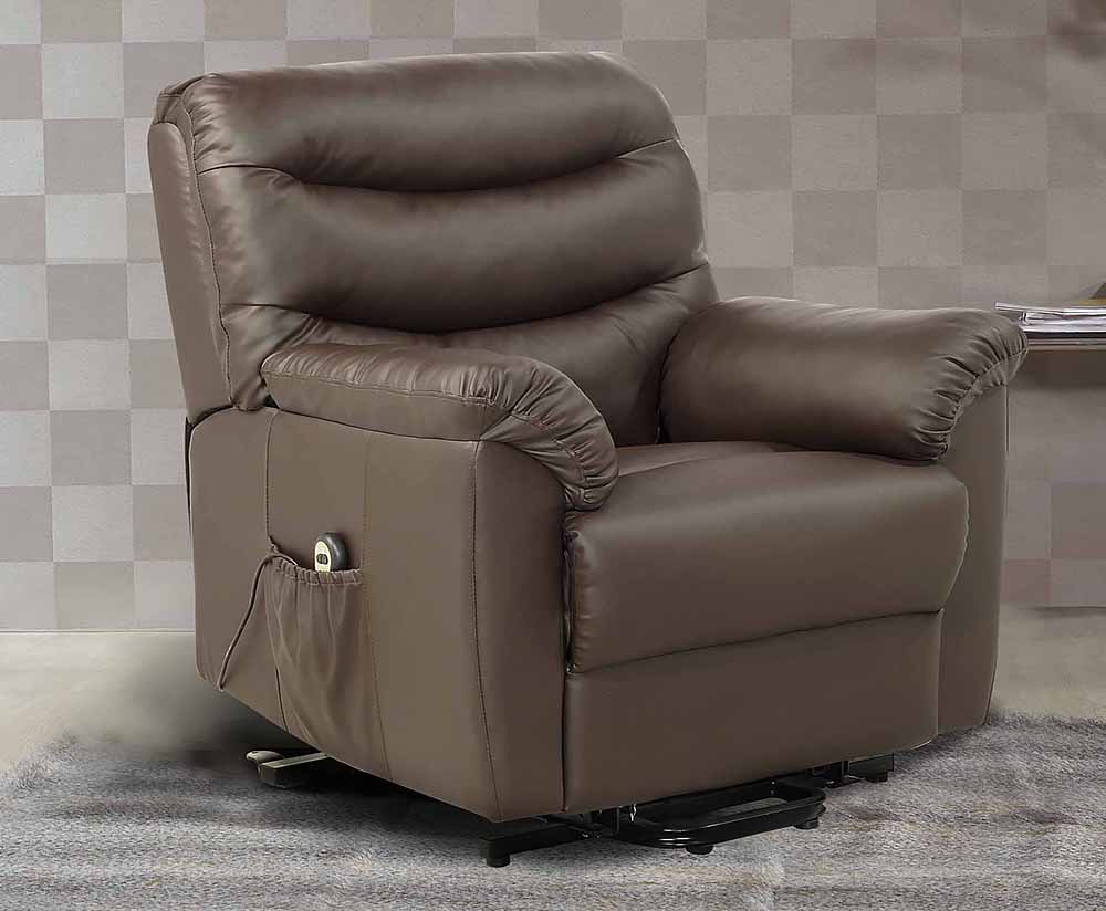 Bridford Faux Leather Rise Amp Recline Chair Just Arm Chairs