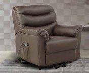 Bridford Brown Faux Leather Single Motor Riser Recliner
