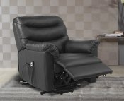 Bridford Black Faux Leather Single Motor Riser Recliner