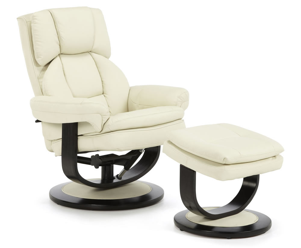 finley cream bonded leather recliner chair recliner chair was 479