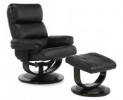 Strand Black Faux Leather Recliner Chair