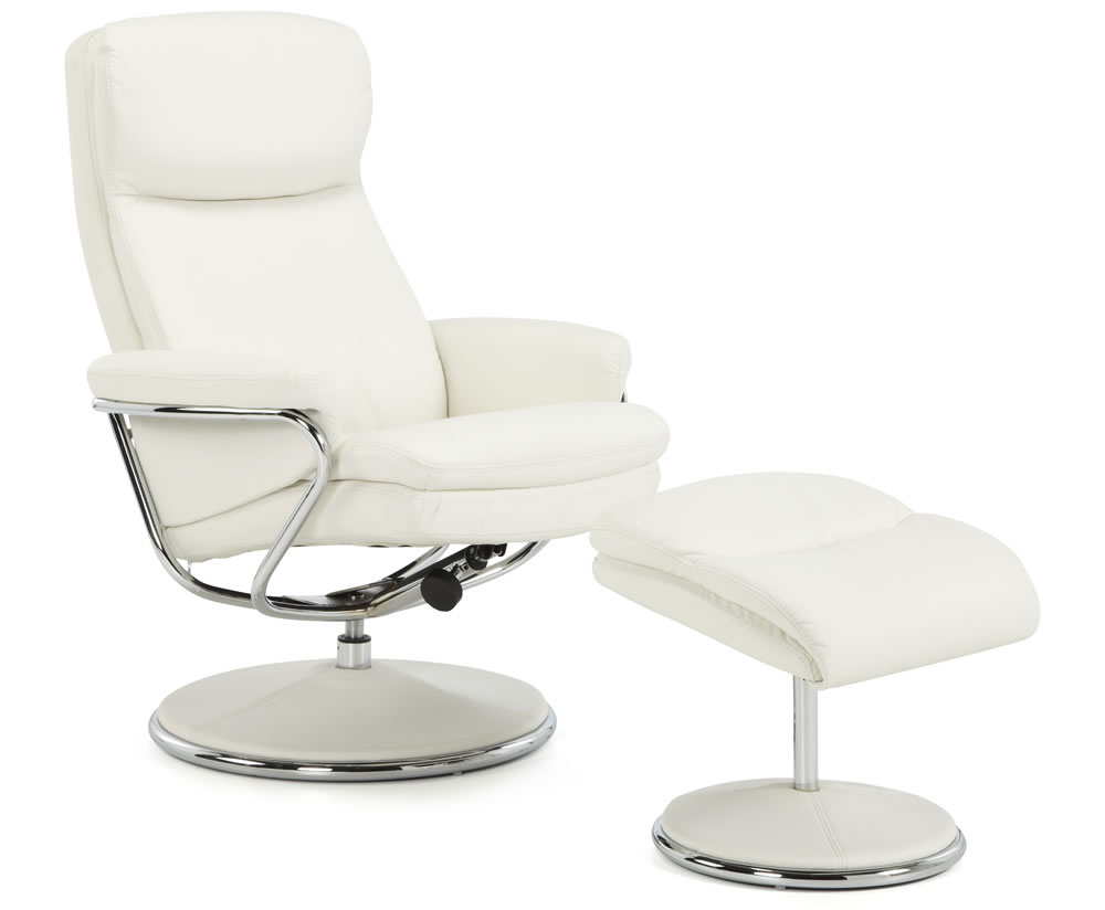 Norway white faux leather recliner chair uk delivery for Chair recliner