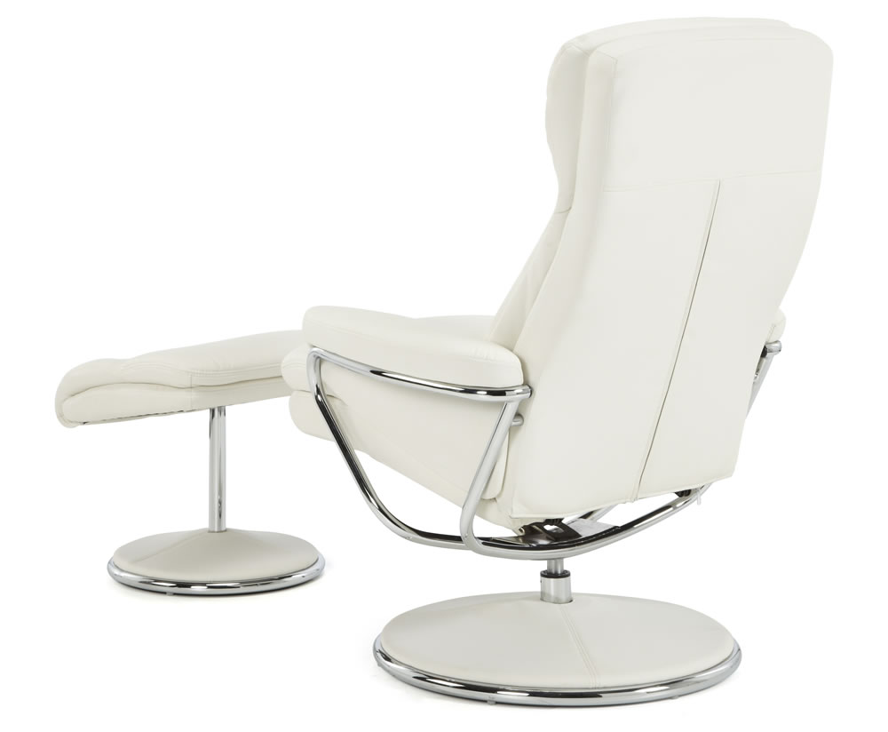 Norway White Faux Leather Recliner Chair Uk Delivery