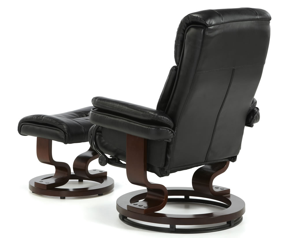 Black Faux Leather Chair: Spencer Black Faux Leather Recliner Chair