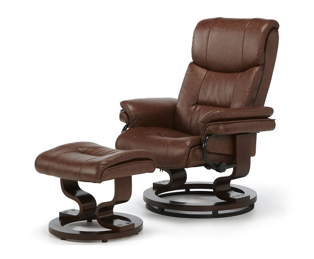Spencer Faux Leather Recliner Chair - Just Armchairs