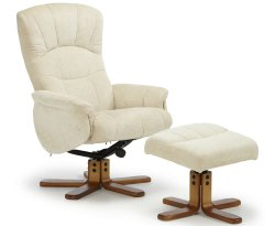 Kendra Cream Cotton Fabric Recliner Chair