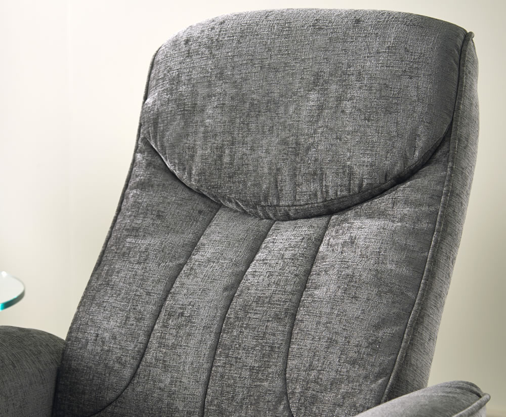 Olsen Fabric Massage Recliner Chair And Stool Just Armchairs