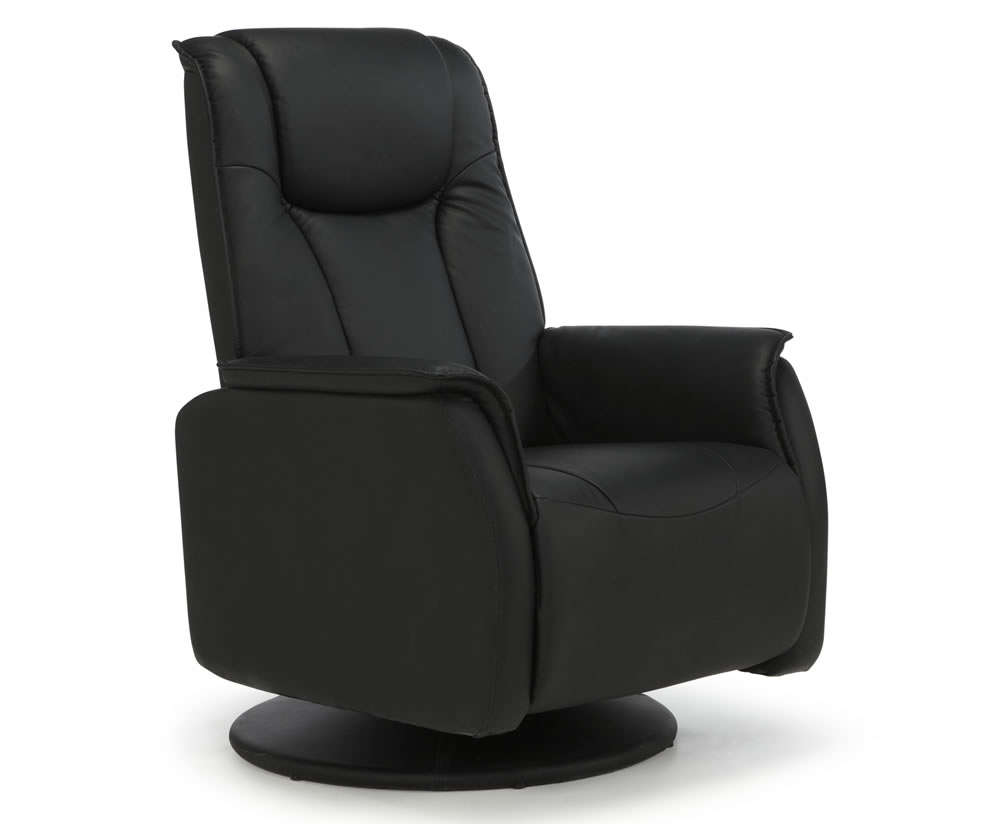 Linn Black Faux Leather Manual Recliner Chair Search