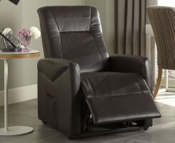 Lisbeth Brown Faux Leather Riser Recliner Chair