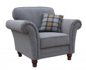 Hammond Grey Upholstered Arm Chair