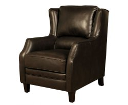 Conway Dark Brown Faux Leather Fireside Armchair
