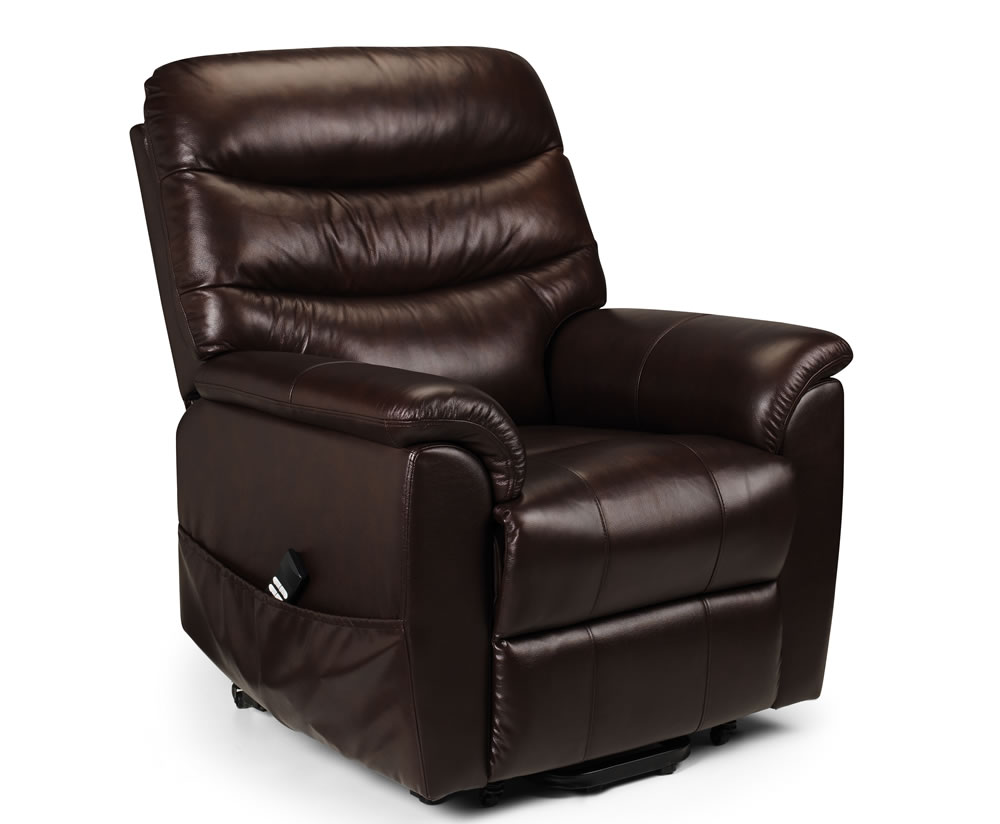 Harlow Brown Bonded Leather Rise Amp Recliner Chair Chestnut Brown Bonded Leather Of Justarmchairs