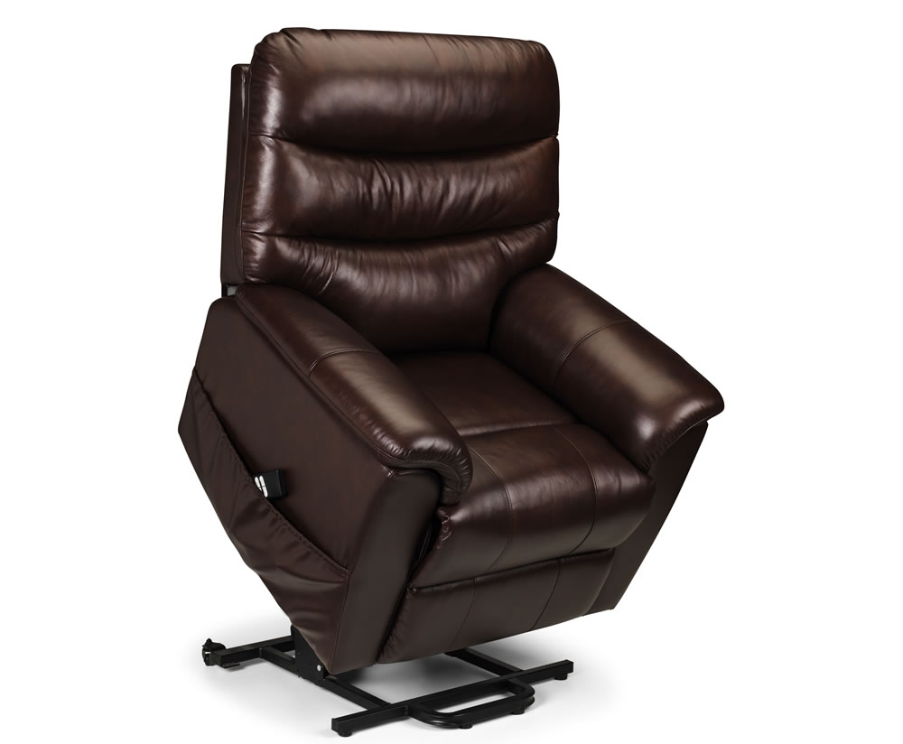 Harlow Brown Bonded Leather Rise Amp Recliner Chair