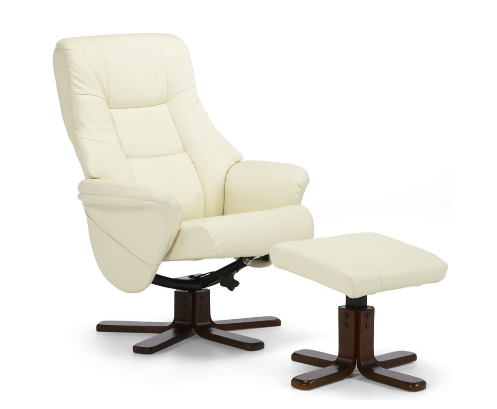 Welton Faux Leather Massage Recliner Chair And Stool