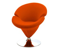 Ollie Orange Velvet Revolving Chair
