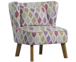 Picardi Blush Pink Fabric Chair