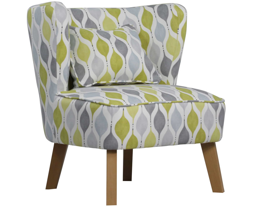 Picardi Lime Green Fabric Chair